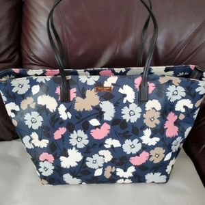 KATE SPADE BLUE MULTI COLOR TOTE